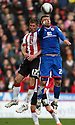 Richard Cresswell of Sheffield United and Michael Bostwick of Stevenage header - Sheffield United v Stevenage - npower League 1 - Bramall Lane, Sheffield  - 28th April, 2012. © Kevin Coleman 2012