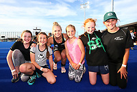 Kirsten Pearce and fans. Pro League Hockey, Vantage Blacksticks Women v China. Nga Puna Wai Hockey Stadium, Christchurch, New Zealand. Sunday 17th February 2019. Photo: Simon Watts/Hockey NZ