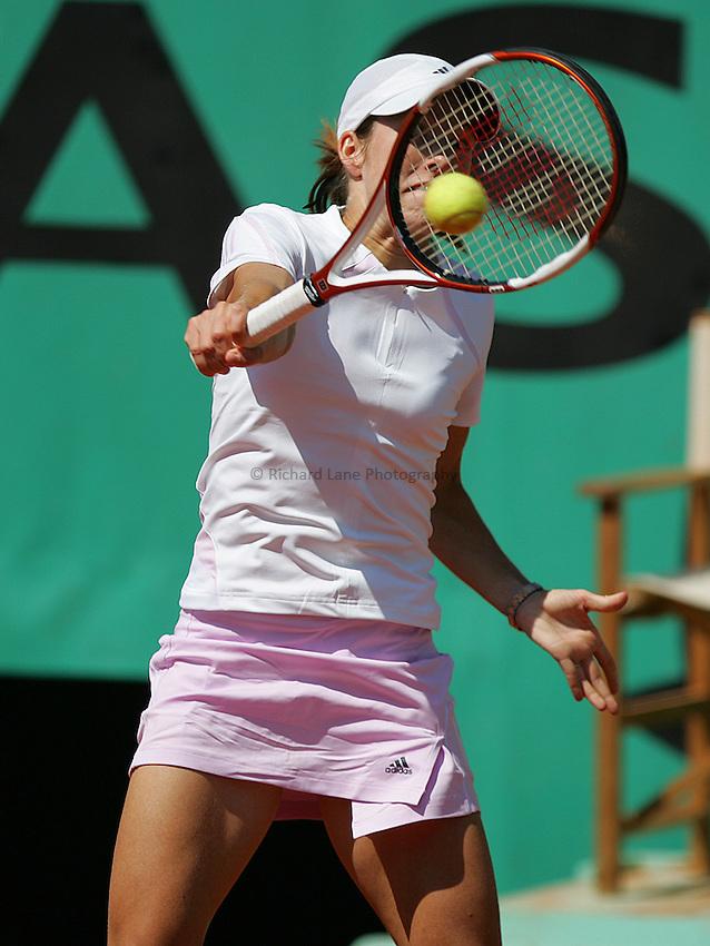 Photo: Iconsport/Richard Lane Photography..Roland Garros 2006..06/06/2006..Justine Henin Hardenne.