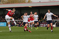 Vivianne Miedema of Arsenal scores the first goal for her team and celebrates during Arsenal Women vs Liverpool Women, Barclays FA Women's Super League Football at Meadow Park on 24th November 2019