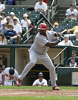 August 15, 2004:  /1b/ Ryan Howard (6) of the Scranton-Wilkes Barre Red Barons, Class-AAA International League affiliate of the Philadelphia Phillies, during a game at Frontier Field in Rochester, NY.  Photo by:  Mike Janes/Four Seam Images