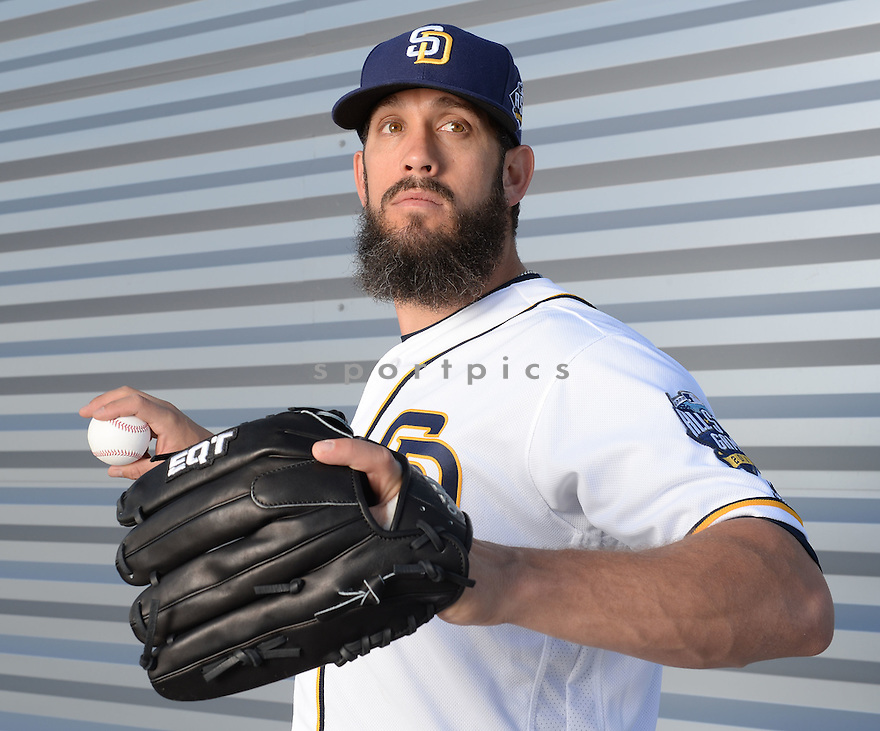 San Diego Padres James Shields (33) during photo day on February 26, 2016 in Peoria, AZ.