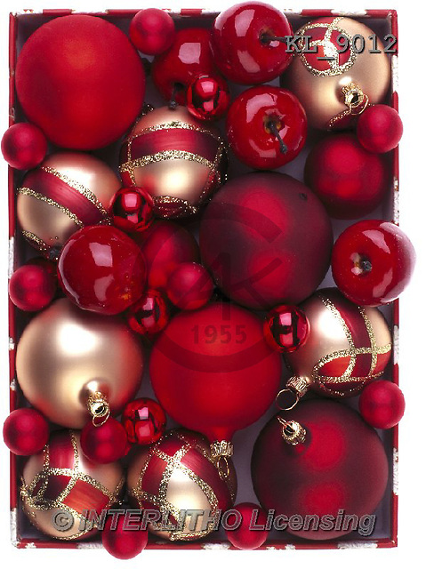 Interlitho, CHRISTMAS SYMBOLS, WEIHNACHTEN SYMBOLE, NAVIDAD SÍMBOLOS, photos+++++,red,golden balls,apples,KL9012,#xx#