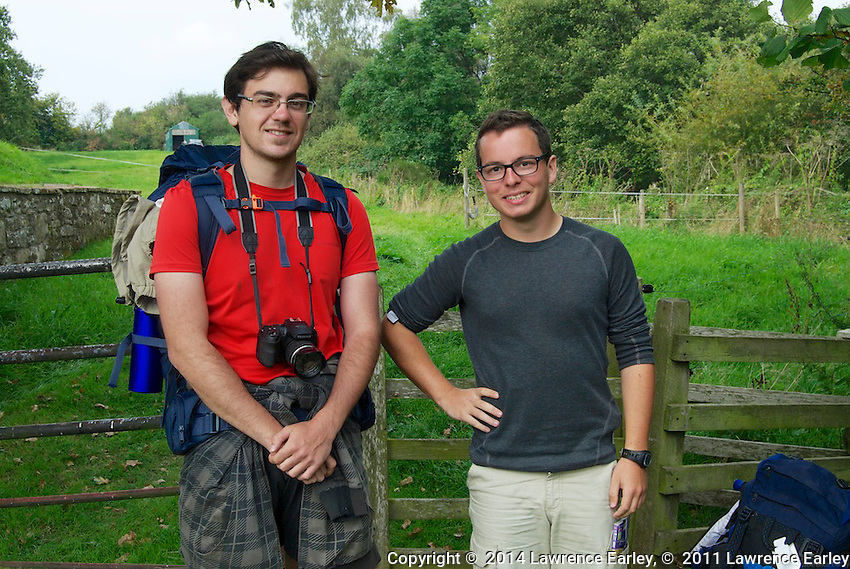 Day 4 - Guillaume (l.) and Thibaut (r.), two young French men hiking and camping along the wall.