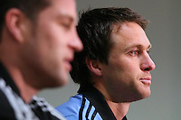 All Black Ben Smith speaks with media at the interview session prior to the Rugby Championship, Bledisloe Cup test match between New Zealand and Australia, Southern Cross Hotel, Dunedin, New Zealand, Thursday, October 17, 2013. Photo: Dianne Manson / photosport.co.nz