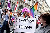 - Milano, Christopher Street Day, organizzato dalle associazioni del movimento tlgb.- Milan, Christopher Street Day, organizade by tlgb associations movement