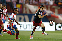 27.08.2012 SPAIN -  La Liga 12/13 Matchday 2th  match played between Atletico de Madrid vs Athletic Club de Bilbao (4-0) with hat-trick Radamel Falcao at Vicente Calderon stadium. The picture show Markel Susaeta Laskurain (Spanish midfielder of Athletic)