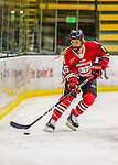25 November 2016: Saint Cloud State Huskie Defender Rachel Herzog, a Freshman from Oakdale, MN, in action against the University of Vermont Catamounts at Gutterson Fieldhouse in Burlington, Vermont. The Lady Cats defeated the Huskies 5-1 to take the first game of the 2016 Windjammer Classic Tournament. Mandatory Credit: Ed Wolfstein Photo *** RAW (NEF) Image File Available ***