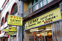 Store signs in Chinatown, Vancouver, british Columbia, Canada