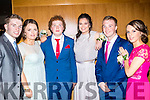 School Debs<br /> -----------------<br /> L-R Ethan Costello, Kate Conboye, Cian &amp; Caoimh O'Sullivan, Aaron Heffernan with Orla Cremin enjoying their Debs from Killorglin Intermediate school last Wednesday night in the Ballyroe Heights hotel, Tralee.