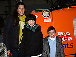 Aideen, Callum and Donnacha Skinnader pictured at the Mulled Wine fundraiser in Clogherhead Lifeboat Station. Photo:Colin Bell/pressphotos.ie