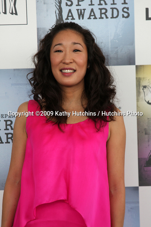 Sandra Oh arriving  at the  Film Indpendent's  24th Annual Spirit Awards on the beach in Santa Monica, CA  on.February 21, 2009.©2009 Kathy Hutchins / Hutchins Photo...                .