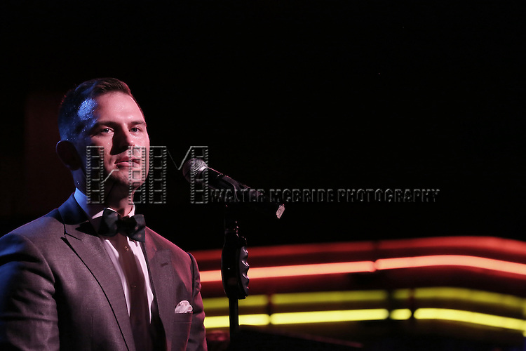 Daniel Reichard performing in 'Daniel Reichard's Decked Out Holiday Party' at Birdland on December 15, 2014 in New York City.