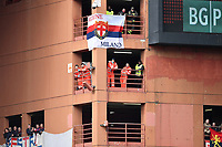 Firemen, nurse and fans attend the match from a balcony of the stadium during the Serie A 2018/2019 football match between Genoa CFC and Juventus FC at stadio Luigi Ferraris, Genova, March 17, 2019 <br /> Photo Andrea Staccioli / Insidefoto