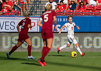 FRISCO, TX - MARCH 11: Amanda Sempedro #19 of Spain dribbles during a game between England and Spain at Toyota Stadium on March 11, 2020 in Frisco, Texas.