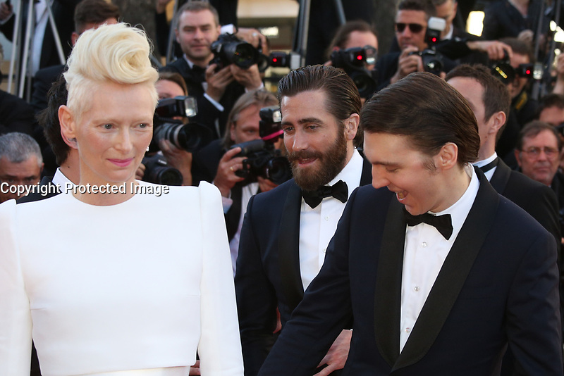 TILDA SWINTON, JAKE GYLLENHAAL AND PAUL DANO - RED CARPET OF THE FILM 'OKJA' AT THE 70TH FESTIVAL OF CANNES 2017