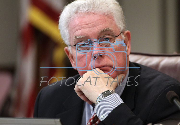 Nevada Assemblyman John Hambrick, R-Las Vegas, listens in committee at the Legislature, in Carson City, Nev., on Wednesday, March 23, 2011.  .Photo by Cathleen Allison