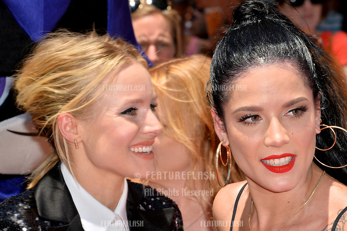 Kristen Bell &amp; Halsey at the premiere for &quot;Teen Titans Go! to the Movies&quot; at the TCL Chinese Theatre, Los Angeles, USA 22 July 2018<br /> Picture: Paul Smith/Featureflash/SilverHub 0208 004 5359 sales@silverhubmedia.com