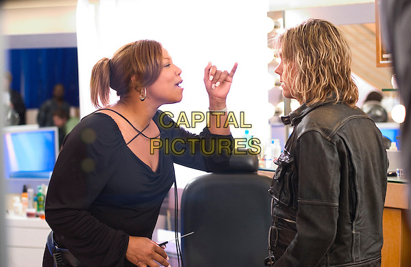 QUEEN LATIFAH & KEVIN BACON.in Beauty Shop.*Editorial Use Only*.www.capitalpictures.com.sales@capitalpictures.com.Supplied by Capital Pictures.
