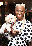 Cynthia Erivo and Caleb attends the Sardi's portrait unveiling for Condola Rashad at Sardi's Restaurant on May 10, 2018 in New York City.