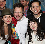 Phillipa Soo, Manoel Felciano, Adam Chanler-Berat and Savvy Crawford during the Actors' Equity Broadway Opening Night Gypsy Robe Ceremony honoring Manoel Felciano for 'Amelie' at the Walter Kerr Theatre on April 3, 2017 in New York City