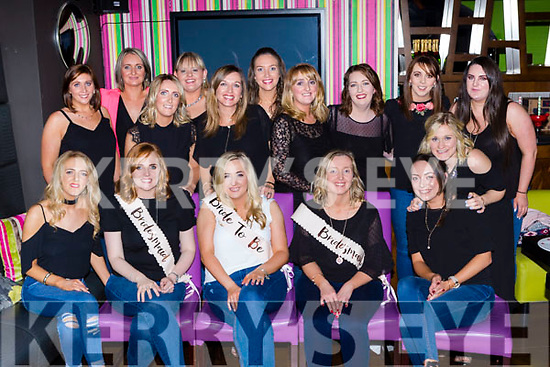 Maria Moloney Listry and formerly Rockchapel who celebrated her hen party in the Lane bar Killarney on Saturday night