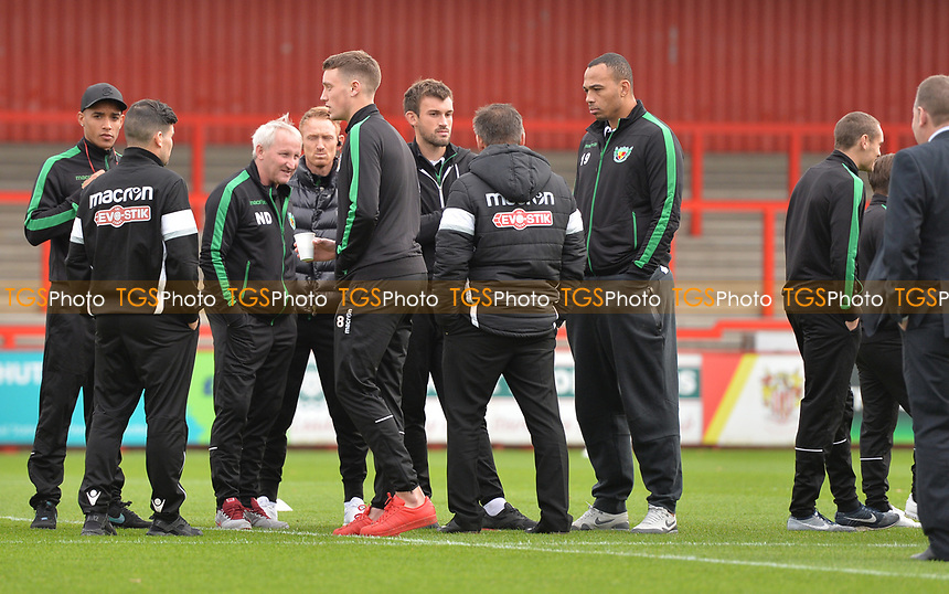 Nantwich team arrive at the Lamex stadium during Stevenage vs Nantwich Town, Emirates FA Cup Football at the Lamex Stadium on 4th November 2017