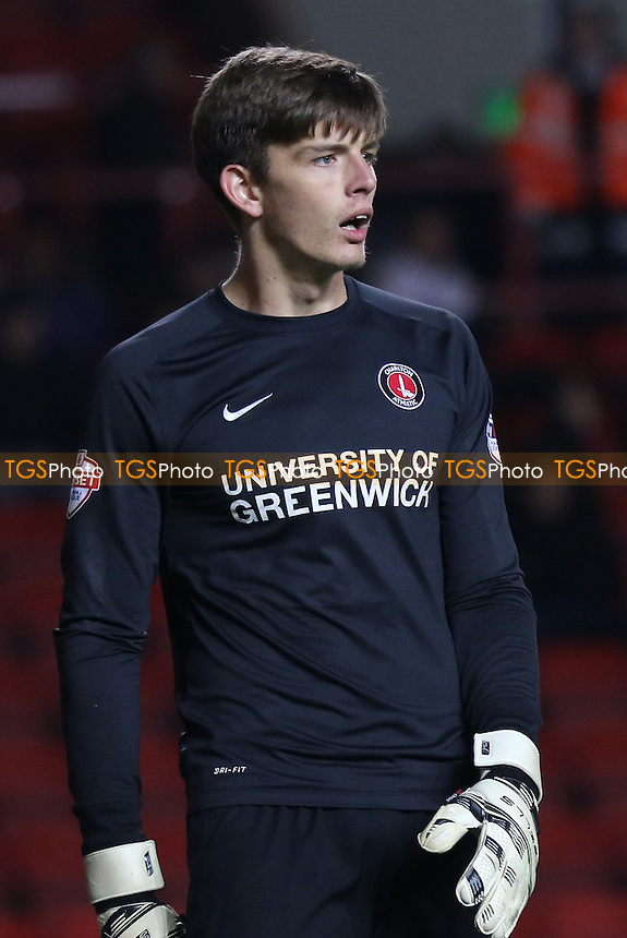 Charlton goalkeeper, Nick Pope during Charlton Athletic vs Preston North End, Sky Bet Championship Football at The Valley, London, England on 20/10/2015
