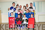 MARTIAL: Winners  from the White Panther Martial Club who won in the IFK Full Contact Martial Arts in Dublin on the 18th September back in training at their hall at the Rahoonane Community Centre on Monday evening with fellow members, Front l-r: Zach O'Connor, Conor O'Brien, Lauren Dowling, John Ward, Joseph Griffin and Leanne O'Brien. Back l-r: Paul O'Donovan, Joanna Condon, Danny O'Shea, Chelsea Dowling, Steve O'Connor (instructor) and Brendan Bynane. .........