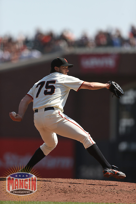 SAN FRANCISCO - SEPTEMBER 27:  Barry Zito of the San Francisco Giants pitches during the game against the Arizona Diamondbacks at AT&T Park on September 27, 2012 in San Francisco, California. (Photo by Brad Mangin)