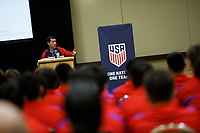 Bradenton, FL : Tab Ramos speaks to US Soccer athletes during a presentation in Bradenton, Fla., on January 4, 2018. (Photo by Casey Brooke Lawson)