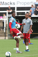 Timmy Abraham of Fulham, brother of Chelsea's Tammy, warms up ahead of kick-off during Bromley vs Fulham, Friendly Match Football at the H2T Group Stadium on 6th July 2019