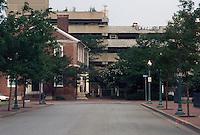 1996 July 08..Redevelopment..Macarthur Center.Downtown North (R-8)..FREEMASON GARAGE DEMO.LOOKING WEST ON FREEMASON MIDPOINT CUMBERLAND & BANK STREET...NEG#.NRHA#..