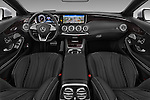 Stock photo of straight dashboard view of 2017 Mercedes Benz S-Class AMG-Line 2 Door Convertible Dashboard