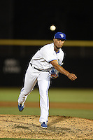 Dunedin Blue Jays pitcher Jimmy Cordero (19) delivers a pitch during a game against the Bradenton Marauders on April 14, 2015 at Florida Auto Exchange Stadium in Dunedin, Florida.  Bradenton defeated Dunedin 7-1.  (Mike Janes/Four Seam Images)