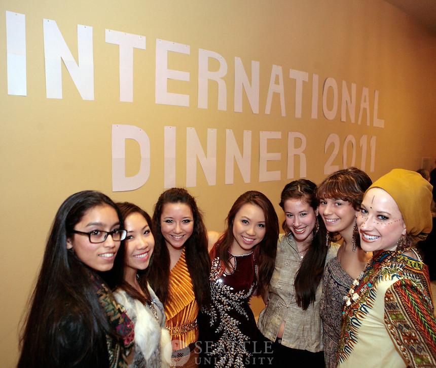 "Guests at the 34th Annual International Dinner, with the theme ""The World at Night,"" noshed on international cuisine and were treated to a rich selection of cultural performances from African dance to pop rock to Taiko drumming and more. Seattle University's International Student Center and the International Club sponsor the dinner."