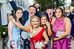 Chloe Barry, Colm van Assen, Olivia Whelton, Sheena Galvin, Senan Sheehy and Danu Foley, pictured at Pobalscoil Inbhear Scéine, Kenmare Debs, held at the Brandon Hotel, Tralee, on Friday night last.