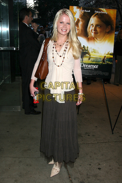 "CRYSTAL HUNT .The Premiere of ""Dreamer"" held at the Chelsea West Theatre, New York City..October 17th, 2005.Ref: IW.full length brown skirt beige blouse top.www.capitalpictures.com.sales@capitalpictures.com.©Capital Pictures"