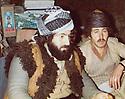 Iraq 1977 .Left, Hama Haji Mahmoud with Latif Hussein , a peshmerga , in Tchotan, near Penjwin.Irak 1977.A gauche, Hama Haji Mahmoud avec Latif Hussein, a Tchotan, pres de Penjwin