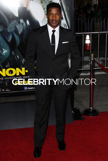 """WESTWOOD, CA, USA - FEBRUARY 24: Nate Parker at the World Premiere Of Universal Pictures And Studiocanal's """"Non-Stop"""" held at Regency Village Theatre on February 24, 2014 in Westwood, Los Angeles, California, United States. (Photo by Xavier Collin/Celebrity Monitor)"""