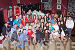 TRIPPLE 21ST: Daniel Feury (seated 5th left), Amy Quirke (seated 7th left) and Declan McCrohan (seated 9th left), Tralee having great time celebrating their 21st birthdays with fasmily and friens at O'Donnel's bar and restaurant, Tralee on Saturday.