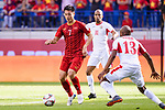 Nguyen Huy Hung of Vietnam (L) in action during the AFC Asian Cup UAE 2019 Round of 16 match between Jordan (JOR) and Vietnam (VIE) at Al Maktoum Stadium on 20 January 2019 in Dubai, United Arab Emirates. Photo by Marcio Rodrigo Machado / Power Sport Images
