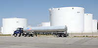 A truck passes Marathon Oil's west side loading facility Monday, June 20, 2007 in Columbus, Ohio.