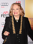 HOLLYWOOD, CA - NOVEMBER 05:  Actress Gena Rowlands arrives at the AFI FEST 2015 presented by Audi Opening Night Gala Premiere of Universal Pictures' 'By The Sea' at TCL Chinese 6 Theatres on November 5, 2015 in Hollywood, California.