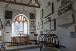 Interior of church of Saint Leonard, Sutton Veny, Wiltshire, England, UK - Churches Conservation Trust