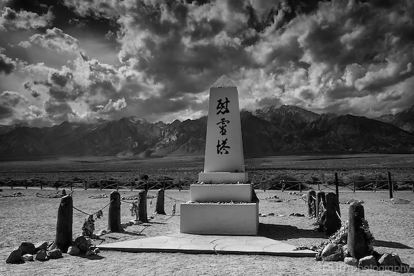 Manzanar memorial in California Sierras
