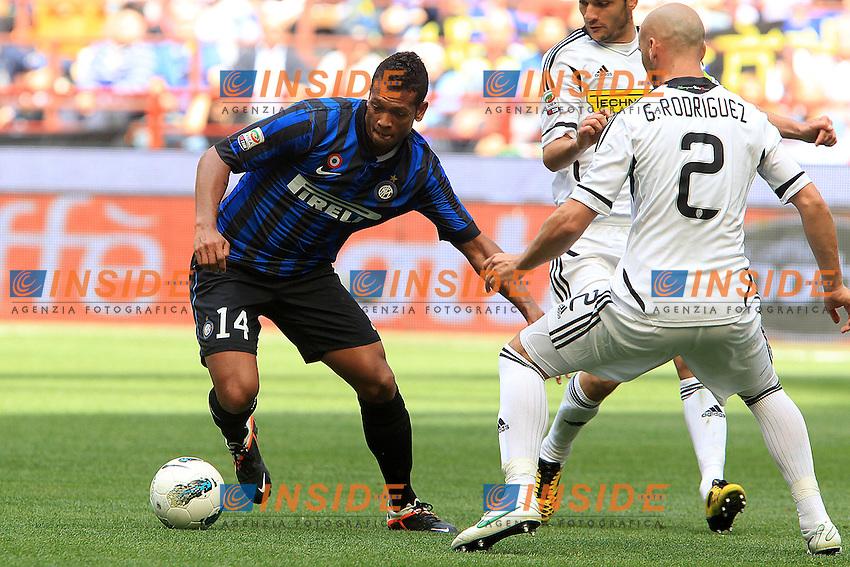 """Fredy Guarin Inter.Milano 29/04/2012 Stadio """"S.Siro"""".Football / Calcio Serie A 2011/12 Inter vs Cesena.Foto Insidefoto Paolo Nucci."""