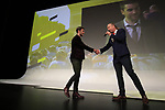 Pierre Latour (FRA) introduced on stage at the Tour de France 2020 route presentation held in the Palais des Congrès de Paris (Porte Maillot), Paris, France. 15th October 2019.<br /> Picture: Eoin Clarke | Cyclefile<br /> <br /> All photos usage must carry mandatory copyright credit (© Cyclefile | Eoin Clarke)
