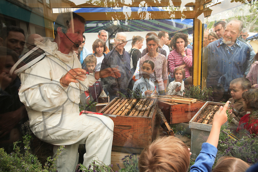 In Mouans Sartoux, South of France during a honey exhibition.