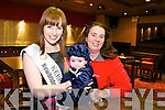Kerry Rose Sile Ni Dheargain pictured with three month old Maura Galvin and Siobhan Galvin from Ballyduff at  the Bonny Baby competition held in the Grand Hotel on Monday morning in aid of Cystic Fibrosis Build for Life.